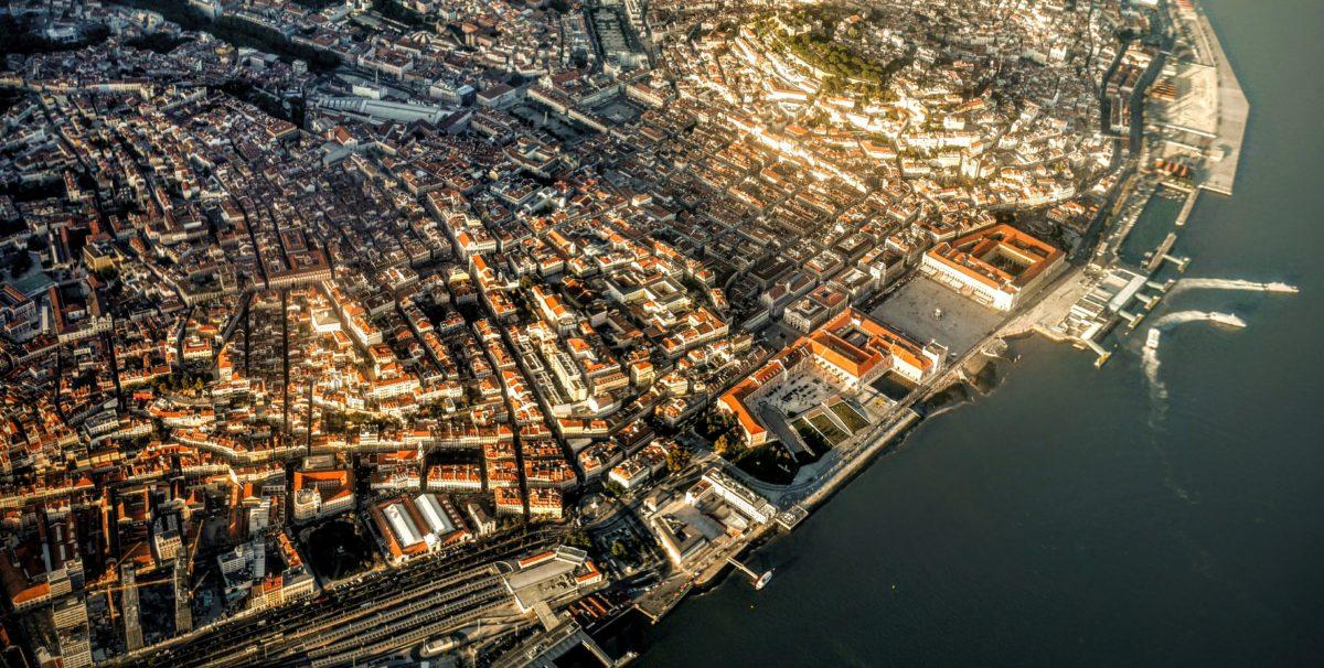 Lissabon aus der Luft