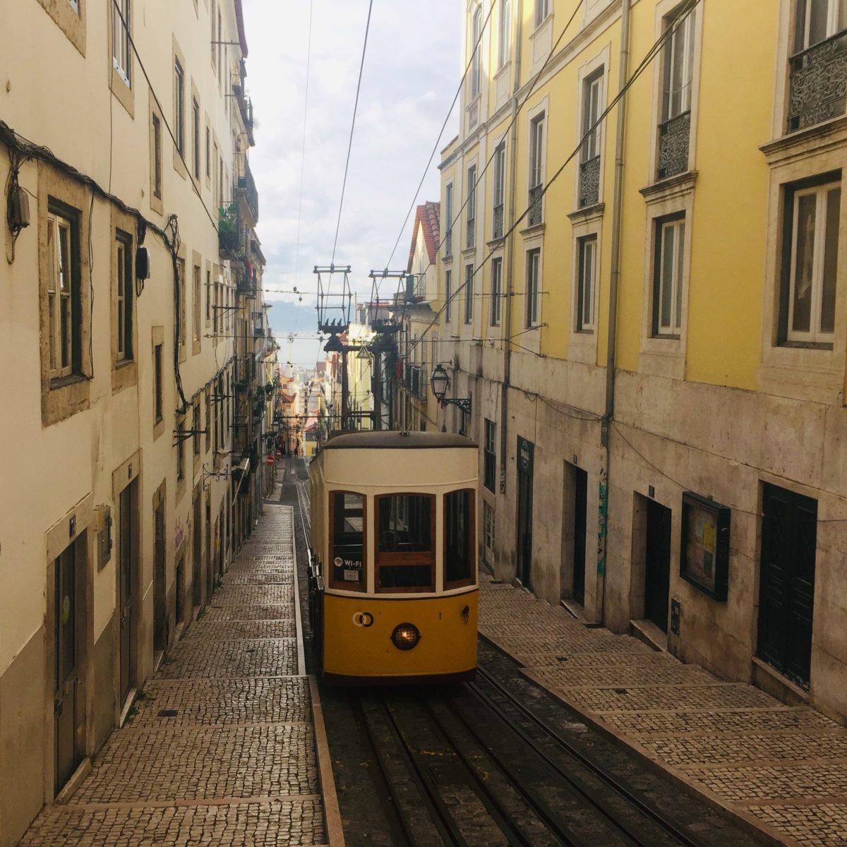 Elevador da Bica in Lissabon