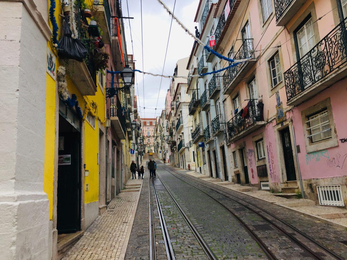Straße in Lissabon
